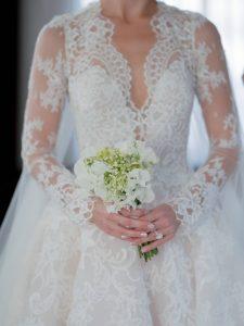 Bridal bouquet at this Miami yacht wedding | Photo by Corbin Gurkin