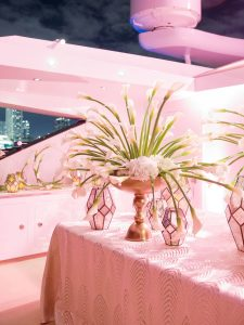 Glamorous reception at this Miami yacht wedding | Photo by Corbin Gurkin