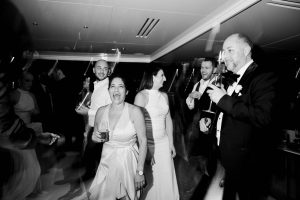 Dancing during reception at this Miami yacht wedding | Photo by Corbin Gurkin