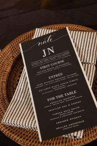 Wedding menu at this New York Public Library wedding   Photo by Genevieve de Manio