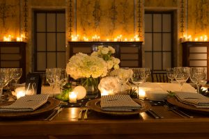 Table decor at this New York Public Library wedding | Photo by Genevieve de Manio