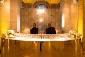 The gold bar at this New York Public Library wedding | Photo by Genevieve de Manio