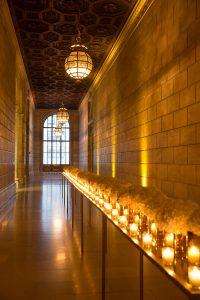 Hallway details at this New York Public Library wedding | Photo by Genevieve de Manio