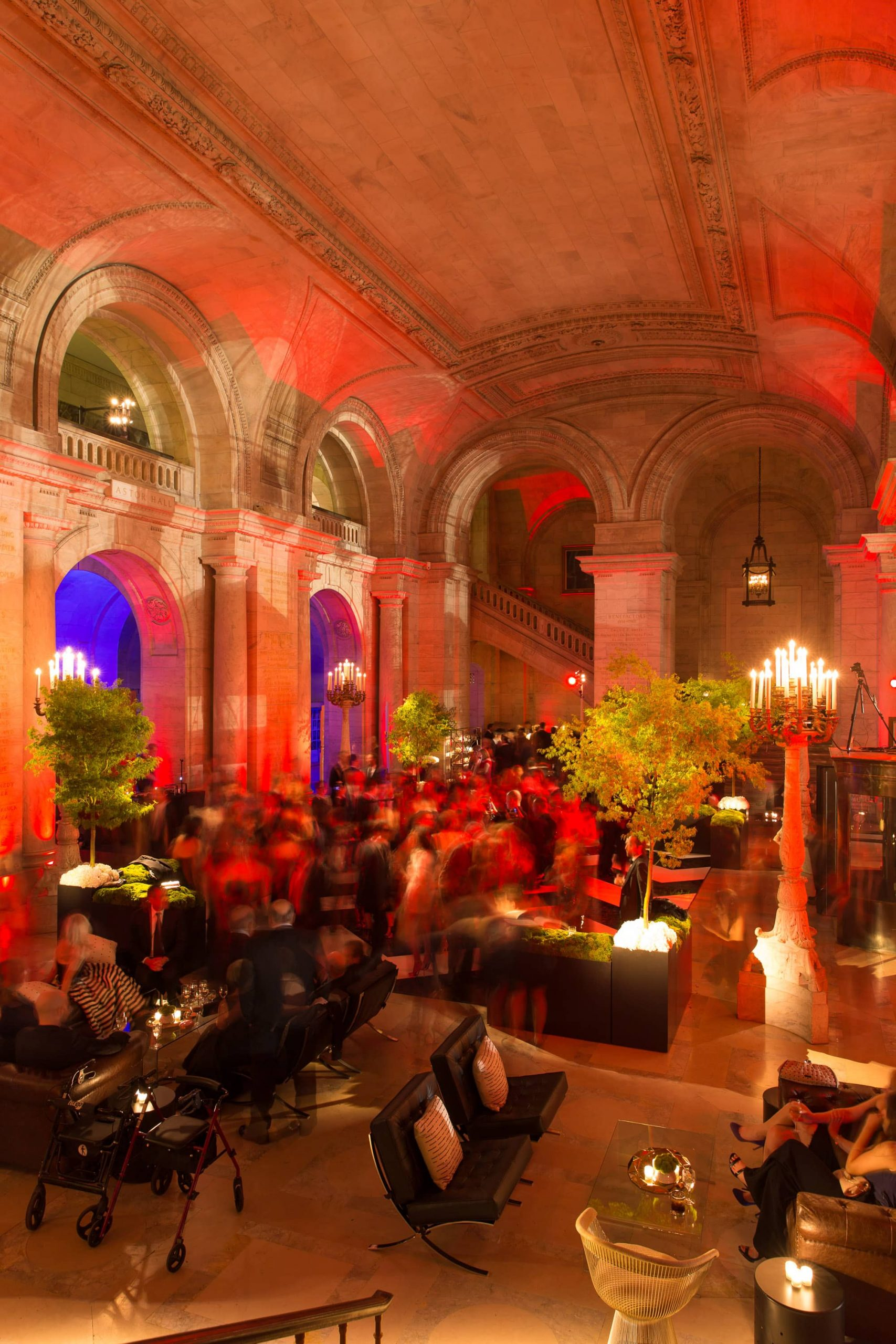Guests during reception at this New York Public Library wedding | Photo by Genevieve de Manio