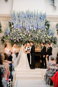 The vows at The Cloister wedding ceremony at this Sea Island wedding weekend in Georgia, USA | Photo by Liz Banfield