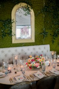 Table decor at this tent turned ballroom reception at this Sea Island wedding weekend in Georgia, USA   Photo by Liz Banfield