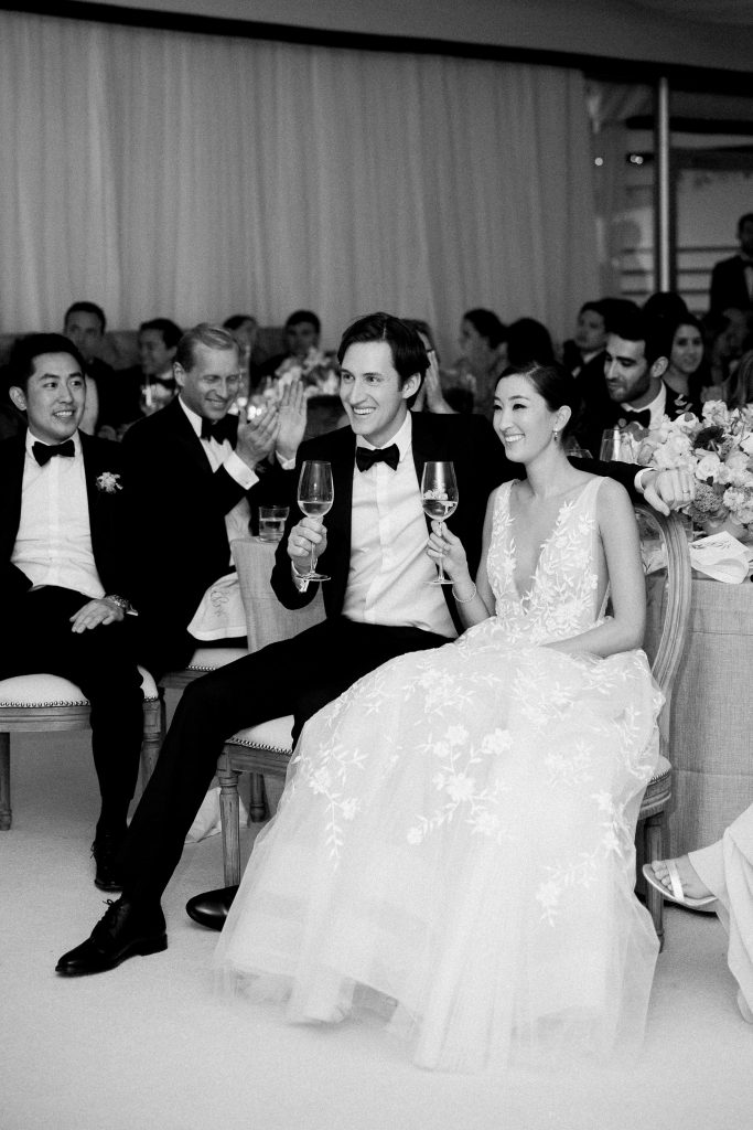 Toasts at this Sea Island wedding weekend in Georgia, USA | Photo by Liz Banfield