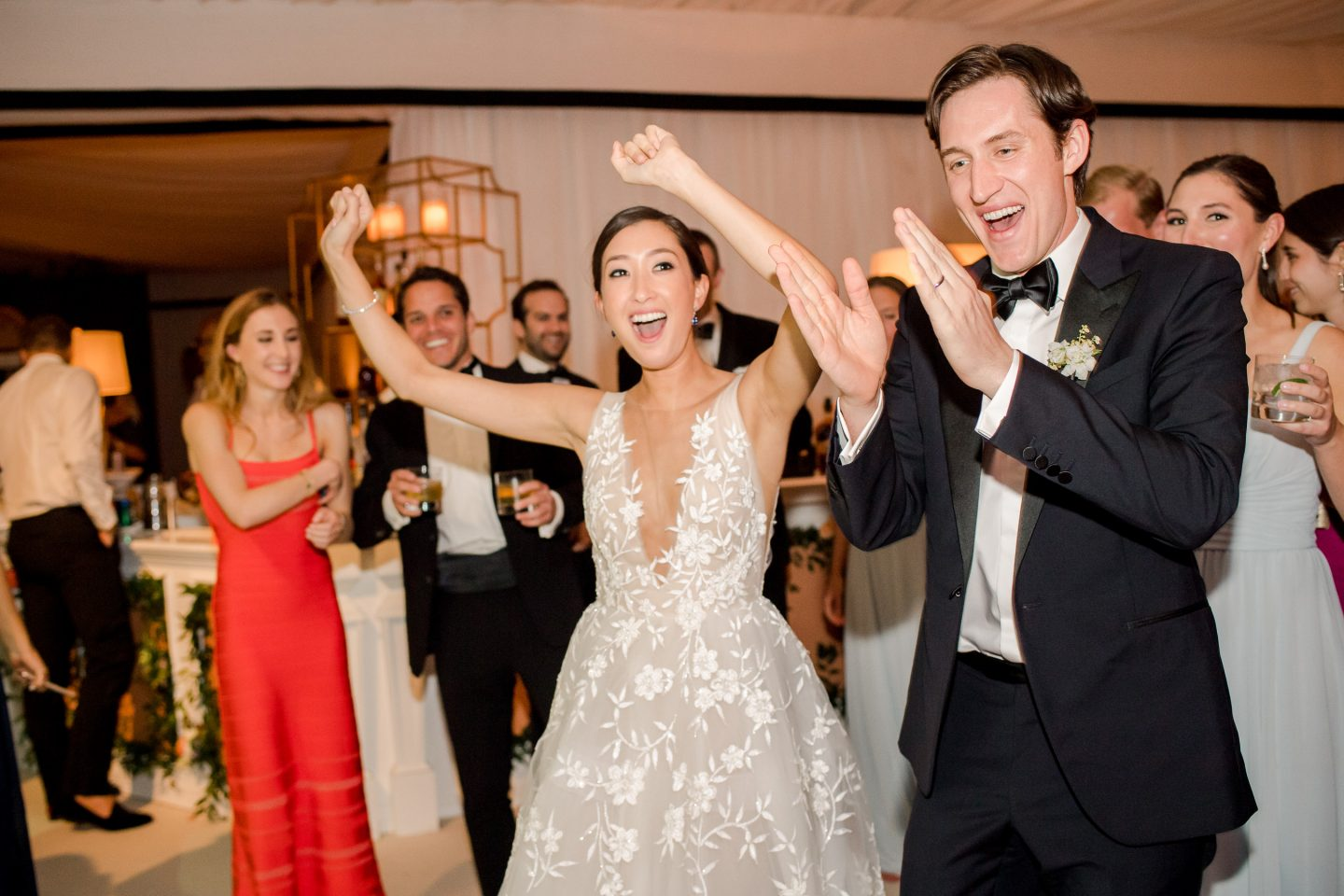 Reception dancing at this Sea Island wedding weekend in Georgia, USA | Photo by Liz Banfield