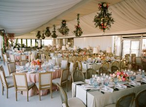 Tented wedding reception decoration at this Sea Island wedding weekend in Georgia, USA | Photo by Liz Banfield
