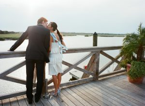 Newlyweds at this Sea Island wedding weekend in Georgia, USA | Photo by Liz Banfield