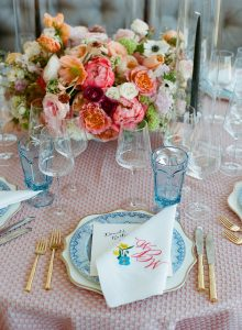 Table decor at this Sea Island wedding weekend in Georgia, USA | Photo by Liz Banfield
