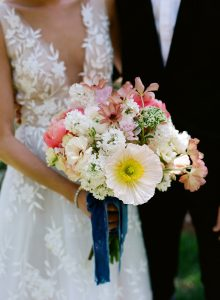 Bride bouquet details at this Sea Island wedding weekend in Georgia, USA | Photo by Liz Banfield