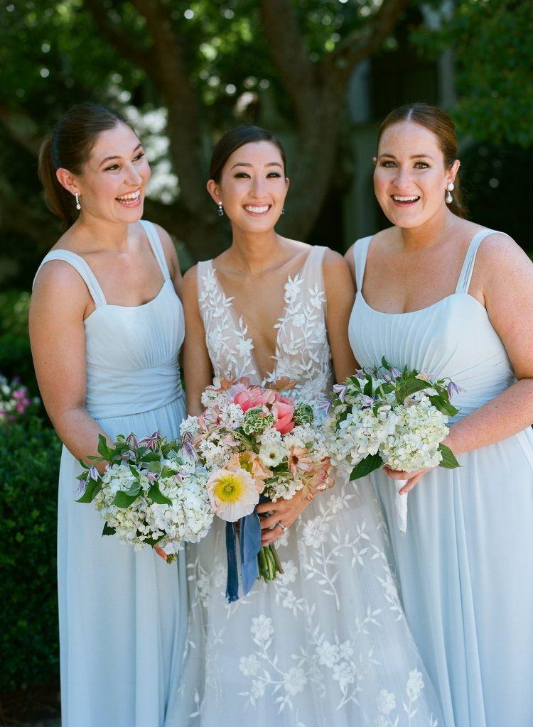Bride and bridesmaids at this Sea Island wedding weekend in Georgia, USA | Photo by Liz Banfield